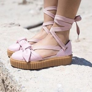 Puma Fenty Rihanna Sandals Bow Creeper Pink 9 New